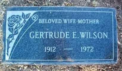 WILSON, GERTRUDE E. - Yavapai County, Arizona   GERTRUDE E. WILSON - Arizona Gravestone Photos