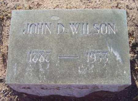 WILSON, JOHN D. - Yavapai County, Arizona   JOHN D. WILSON - Arizona Gravestone Photos