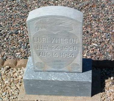 WILSON, LURI - Yavapai County, Arizona   LURI WILSON - Arizona Gravestone Photos
