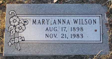 WILSON, MARY ANNA - Yavapai County, Arizona | MARY ANNA WILSON - Arizona Gravestone Photos