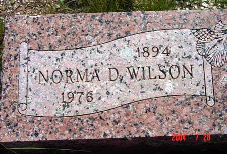 WILSON, NORMA D. - Yavapai County, Arizona   NORMA D. WILSON - Arizona Gravestone Photos
