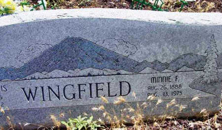 WINGFIELD, MINNIE F. - Yavapai County, Arizona | MINNIE F. WINGFIELD - Arizona Gravestone Photos