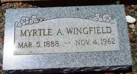 HOUGH WINGFIELD, MYRTLE - Yavapai County, Arizona | MYRTLE HOUGH WINGFIELD - Arizona Gravestone Photos