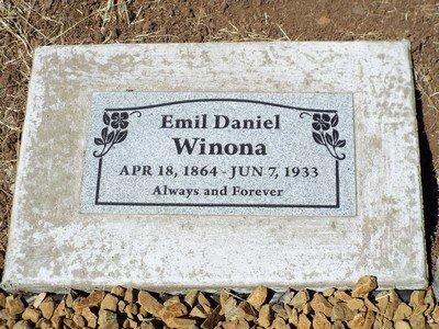 WINONA, EMIL DANIEL - Yavapai County, Arizona   EMIL DANIEL WINONA - Arizona Gravestone Photos