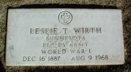 WIRTH, LESLIE T. - Yavapai County, Arizona | LESLIE T. WIRTH - Arizona Gravestone Photos