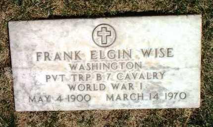 WISE, FRANK ELGIN - Yavapai County, Arizona | FRANK ELGIN WISE - Arizona Gravestone Photos