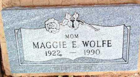 WOLFE, MAGGIE E. - Yavapai County, Arizona   MAGGIE E. WOLFE - Arizona Gravestone Photos
