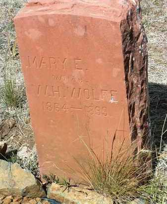 MORTENSON WOLFE, M. - Yavapai County, Arizona | M. MORTENSON WOLFE - Arizona Gravestone Photos