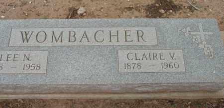 BOYER WOMBACHER, C. V. - Yavapai County, Arizona | C. V. BOYER WOMBACHER - Arizona Gravestone Photos