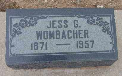 WOMBACHER, JESSE G. - Yavapai County, Arizona | JESSE G. WOMBACHER - Arizona Gravestone Photos