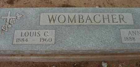WOMBACHER, LOUIS CYRIL - Yavapai County, Arizona | LOUIS CYRIL WOMBACHER - Arizona Gravestone Photos