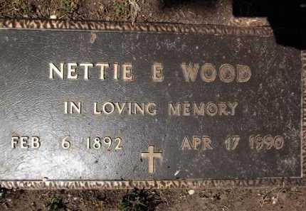 WOOD, NETTIE EUGENIA - Yavapai County, Arizona   NETTIE EUGENIA WOOD - Arizona Gravestone Photos