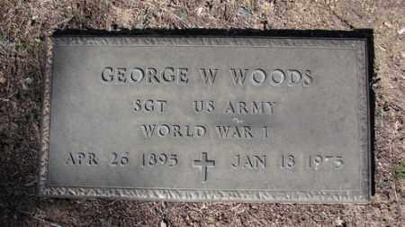WOODS, GEORGE W. - Yavapai County, Arizona   GEORGE W. WOODS - Arizona Gravestone Photos