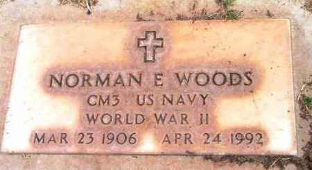 WOODS, NORMAN ERNEST - Yavapai County, Arizona   NORMAN ERNEST WOODS - Arizona Gravestone Photos