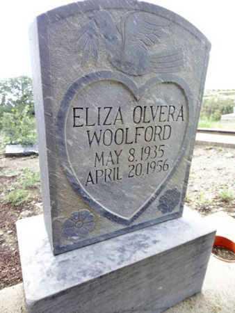 OLVERA WOOLFORD, ELIZA - Yavapai County, Arizona | ELIZA OLVERA WOOLFORD - Arizona Gravestone Photos