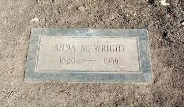 WRIGHT, ANNA M. - Yavapai County, Arizona   ANNA M. WRIGHT - Arizona Gravestone Photos