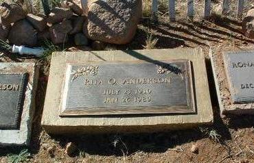 WRIGHT ANDERSON, RITA - Yavapai County, Arizona | RITA WRIGHT ANDERSON - Arizona Gravestone Photos