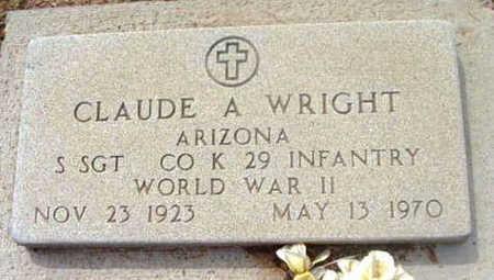 WRIGHT, CLAUDE A. - Yavapai County, Arizona | CLAUDE A. WRIGHT - Arizona Gravestone Photos
