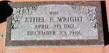 JONES WRIGHT, ETHEL ELIZABETH - Yavapai County, Arizona | ETHEL ELIZABETH JONES WRIGHT - Arizona Gravestone Photos