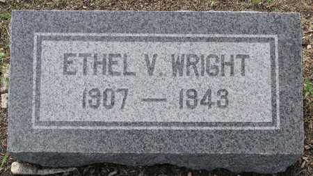 WRIGHT, ETHEL V - Yavapai County, Arizona | ETHEL V WRIGHT - Arizona Gravestone Photos