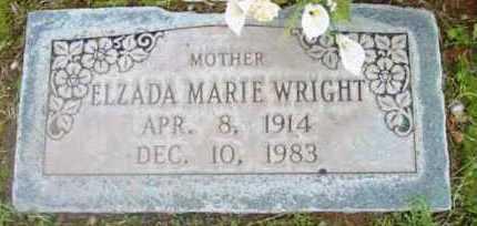 WRIGHT, ELZADA MARIE - Yavapai County, Arizona | ELZADA MARIE WRIGHT - Arizona Gravestone Photos
