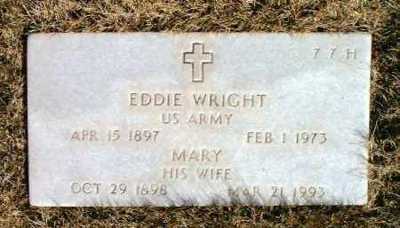 WRIGHT, EDDIE, SR. - Yavapai County, Arizona | EDDIE, SR. WRIGHT - Arizona Gravestone Photos