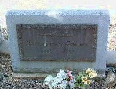 WRIGHT, GERTRUDE ADELINE - Yavapai County, Arizona | GERTRUDE ADELINE WRIGHT - Arizona Gravestone Photos