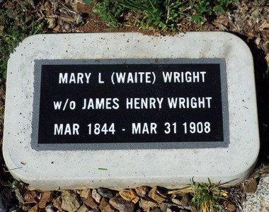 WAITE WRIGHT, MARY L. - Yavapai County, Arizona   MARY L. WAITE WRIGHT - Arizona Gravestone Photos