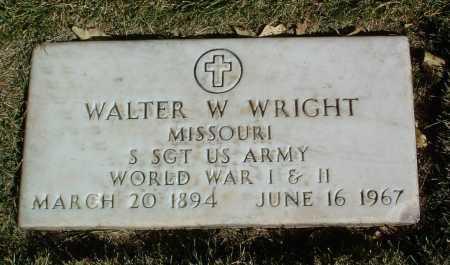 WRIGHT, WALTER W. - Yavapai County, Arizona   WALTER W. WRIGHT - Arizona Gravestone Photos
