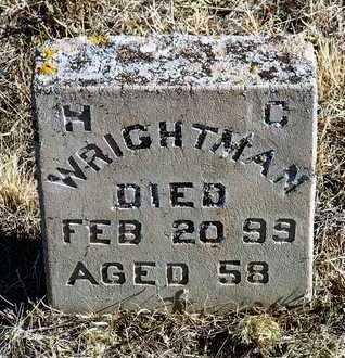 WRIGHTMAN, H. C. - Yavapai County, Arizona | H. C. WRIGHTMAN - Arizona Gravestone Photos