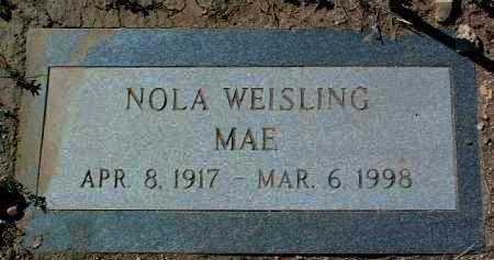 WEISLING, NOLA MAE - Yavapai County, Arizona   NOLA MAE WEISLING - Arizona Gravestone Photos