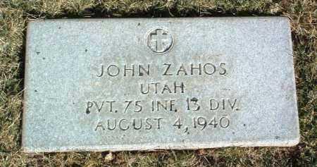 ZAHOS, JOHN - Yavapai County, Arizona | JOHN ZAHOS - Arizona Gravestone Photos