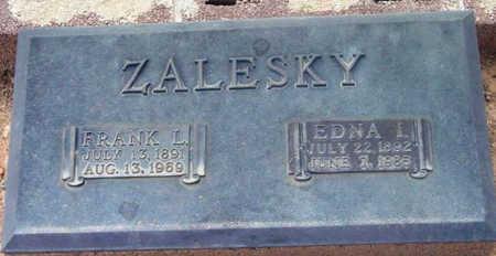 ZALESKY, FRANK L. - Yavapai County, Arizona   FRANK L. ZALESKY - Arizona Gravestone Photos