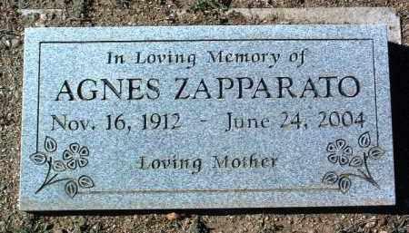 ZAPPARATO, AGNES - Yavapai County, Arizona   AGNES ZAPPARATO - Arizona Gravestone Photos