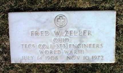 ZELLER, FRED W. - Yavapai County, Arizona | FRED W. ZELLER - Arizona Gravestone Photos