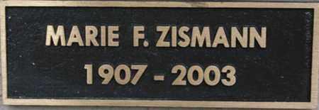 ZISMANN, MARIE FRIEDA - Yavapai County, Arizona | MARIE FRIEDA ZISMANN - Arizona Gravestone Photos