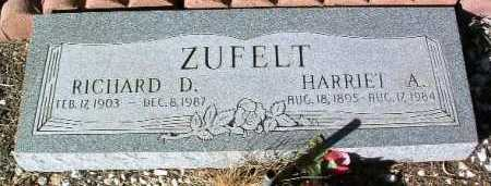 ZUFELT, HARRIET A. - Yavapai County, Arizona | HARRIET A. ZUFELT - Arizona Gravestone Photos