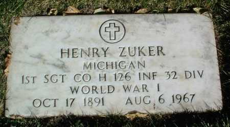 ZUKER, HENRY - Yavapai County, Arizona | HENRY ZUKER - Arizona Gravestone Photos