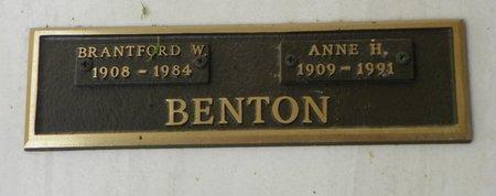 BENTON, BRANTFORD W - Pima County, Arizona | BRANTFORD W BENTON - Arizona Gravestone Photos
