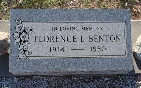 BENTON, FLORENCE L - Pima County, Arizona   FLORENCE L BENTON - Arizona Gravestone Photos
