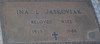 JASKOVIAK, INA L - Pima County, Arizona | INA L JASKOVIAK - Arizona Gravestone Photos
