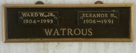 WATROUS, ELEANOR N - Pima County, Arizona | ELEANOR N WATROUS - Arizona Gravestone Photos