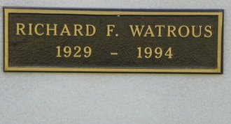 WATROUS, RICHARD F - Pima County, Arizona   RICHARD F WATROUS - Arizona Gravestone Photos