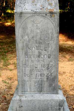 ATTWOOD, NOBLE - Cleveland County, Arkansas   NOBLE ATTWOOD - Arkansas Gravestone Photos