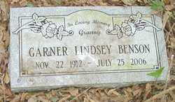 LINDSEY BENSON, GARNER - Cleveland County, Arkansas | GARNER LINDSEY BENSON - Arkansas Gravestone Photos