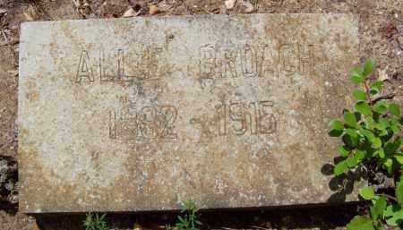 "BROACH, ALTHA C. ""ALLIE"" - Cleveland County, Arkansas | ALTHA C. ""ALLIE"" BROACH - Arkansas Gravestone Photos"