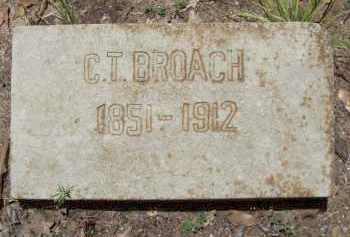 BROACH, CHARLES THOMAS - Cleveland County, Arkansas | CHARLES THOMAS BROACH - Arkansas Gravestone Photos