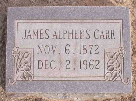 CARR, JAMES ALPHEUS - Cleveland County, Arkansas | JAMES ALPHEUS CARR - Arkansas Gravestone Photos