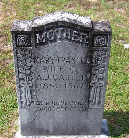 CARTER, MARY FRANCES - Cleveland County, Arkansas   MARY FRANCES CARTER - Arkansas Gravestone Photos