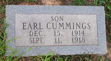CUMMINGS, EARL - Cleveland County, Arkansas | EARL CUMMINGS - Arkansas Gravestone Photos